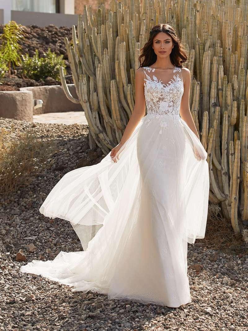 Esküvői ruha bérlés, vásárlás – Pronovias 2021-es kollekció: Britt menyasszonyi ruha