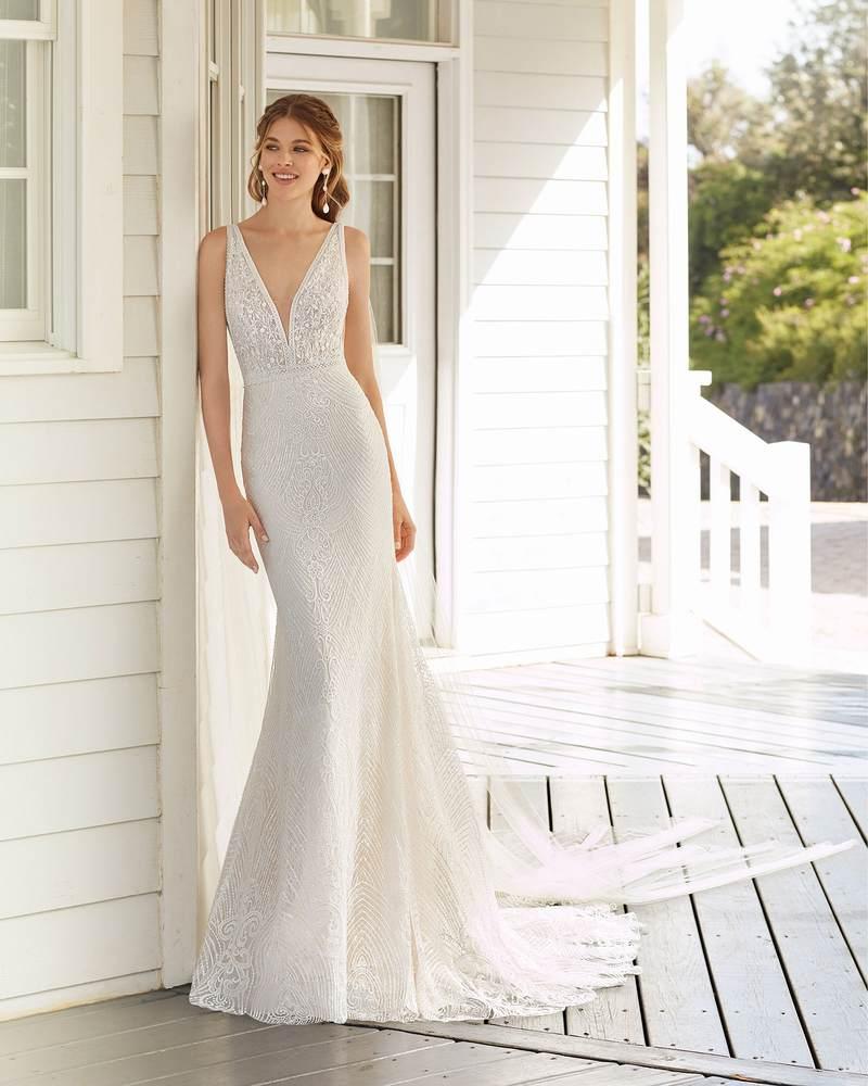 Rosa Clará 2021-es menyasszonyi ruha kollekció vásárlás, bérlés: Cher menyasszonyi ruha