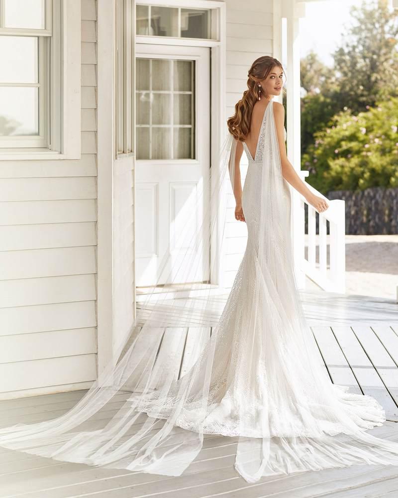 Rosa Clará 2021-es menyasszonyi ruha kollekció vásárlás, bérlés: Cher eskövői ruha