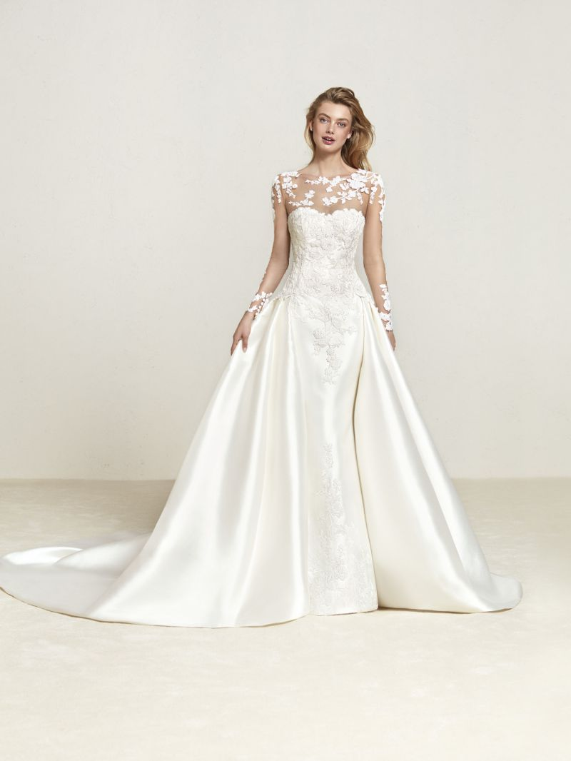 Pronovias 2018 menyasszonyi ruha kollekció: Draline menyasszonyi ruha