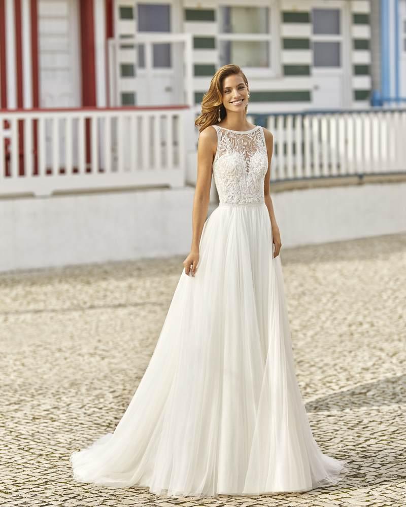 Rosa Clará 2021-es menyasszonyi ruha kollekció vásárlás, bérlés: Haniel menyasszonyi ruha
