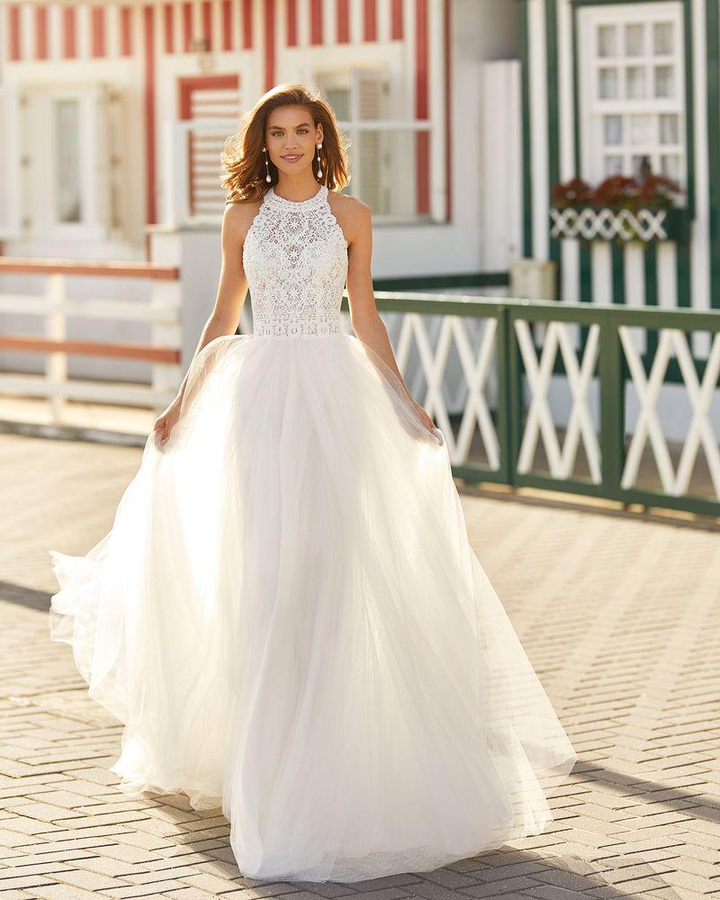 Rosa Clará 2021-es menyasszonyi ruha kollekció vásárlás, bérlés: Hanna menyasszonyi ruha