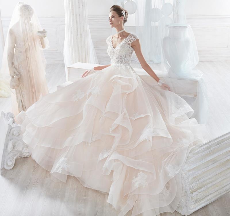 NICOLE SPOSE Milano kollekció: NIAB18062 menyasszonyi ruha