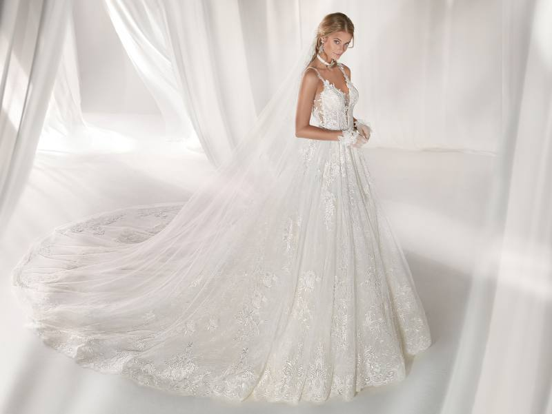 NICOLE SPOSE Milano kollekció: NIAB19147 menyasszonyi ruha