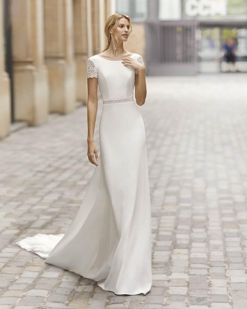 Rosa Clará 2021-es menyasszonyi ruha kollekció vásárlás, bérlés: Talina menyasszonyi ruha