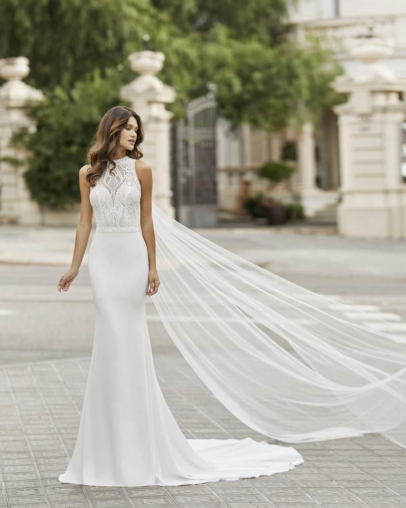 Rosa Clará 2021-es menyasszonyi ruha kollekció vásárlás, bérlés: Tamesis menyasszonyi ruha