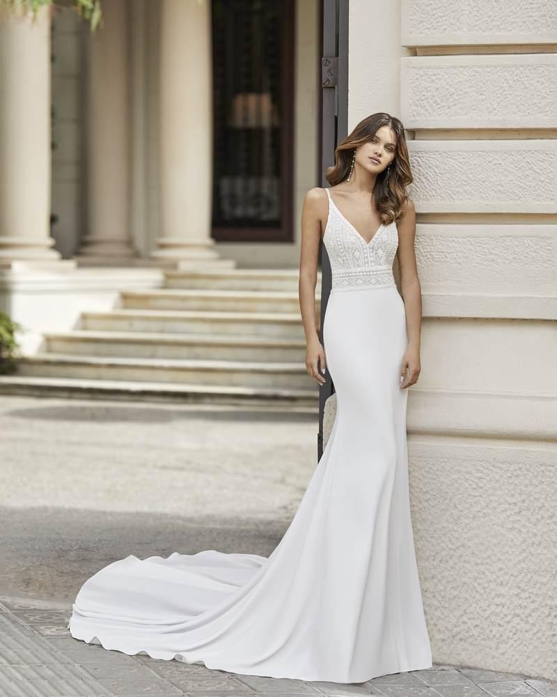 Rosa Clará 2021-es menyasszonyi ruha kollekció vásárlás, bérlés: Tango menyasszonyi ruha